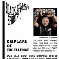 Black College Sports Page: Vol 27, No 41: Displays Of Excellence